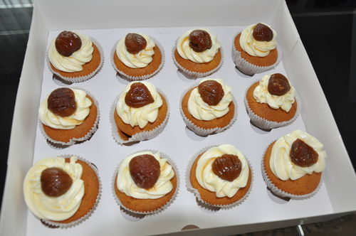 Mini Marroni Cupcakes mit Caramelisierte Marroni 1/ 12 Mini
