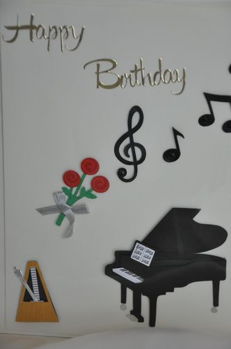 Happy  Birthday Karte  Musik 5